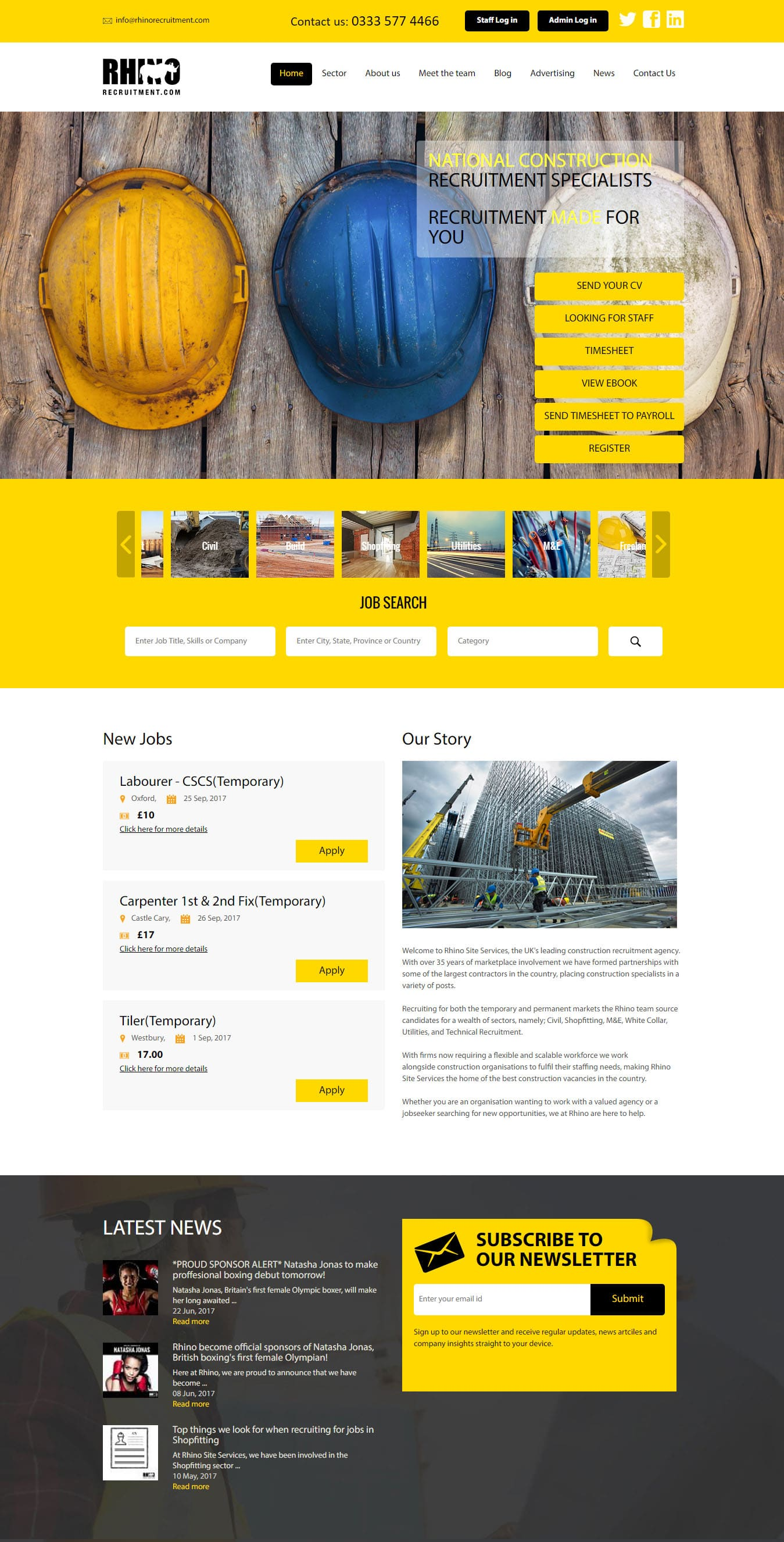 Rhino: Leading Recruitment Agency Web Application